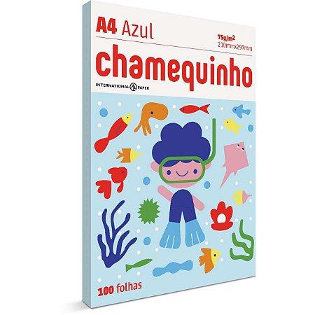 Papel Sulfite A4 Colorido Chamequinho 75G Azul International Paper