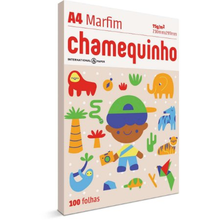 Papel Sulfite A4 Colorido Chamequinho 75G Marfim International Paper