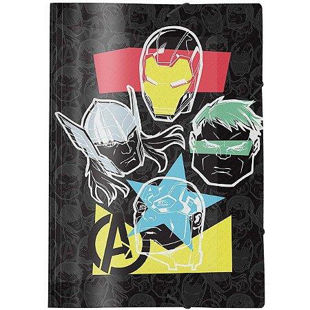 Pasta Aba Elastica Plastica Avengers Oficio Dac