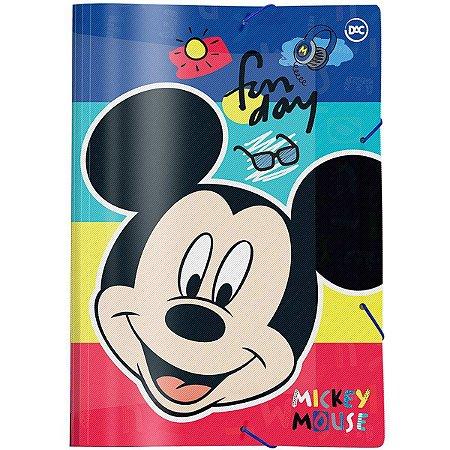 Pasta Aba Elastica Plastica Mickey Mouse Oficio Dac