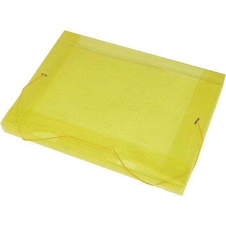 Pasta Aba Elastica Plastica Oficio 20Mm Amarela Acp