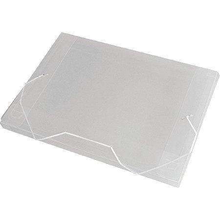 Pasta Aba Elastica Plastica Oficio 20Mm Cristal Acp
