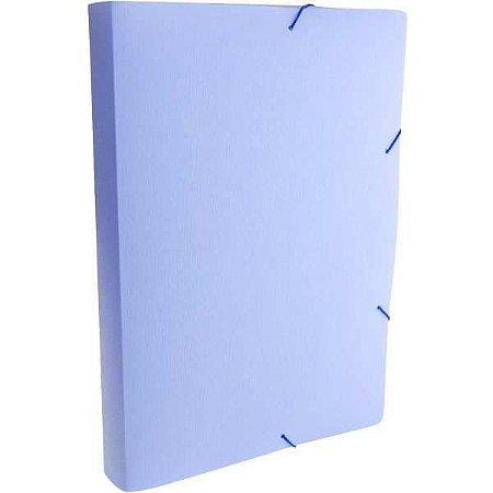 Pasta Aba Elastica Plastica Oficio 40Mm Serena Azul Pastel Dello