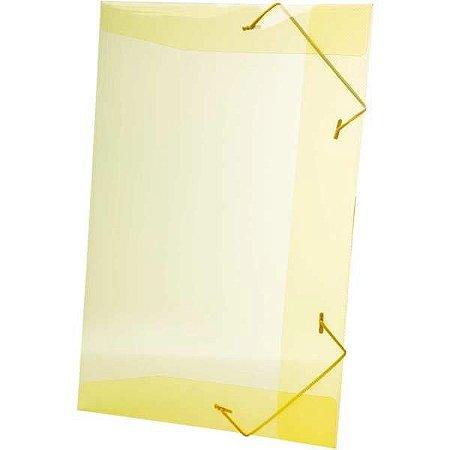 Pasta Aba Elastica Plastica Oficio Amarela Delloline Dello