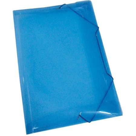 Pasta Aba Elastica Plastica Oficio Azul V.m.p.