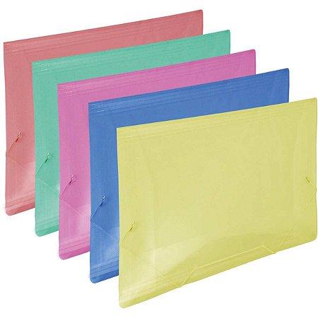 Pasta Aba Elastica Plastica Oficio Colorida Line Dac
