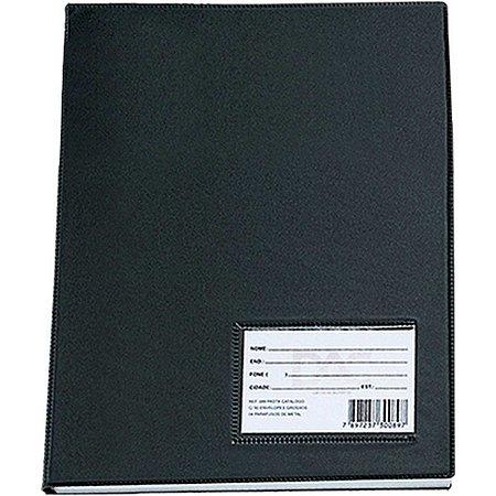 Pasta Catalogo A3 30 Envelopes Medios Preta Dac