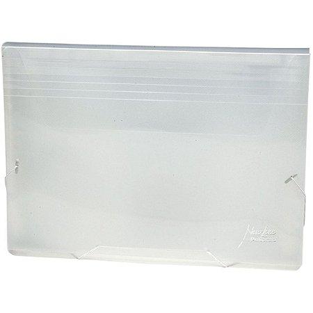 Pasta Sanfonada Plastica Porta Cheque 12 Div. Cristal Polibras