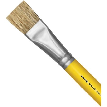 Pincel Artesanal Chato 815 N.22 Amarelo Pinceis Tigre
