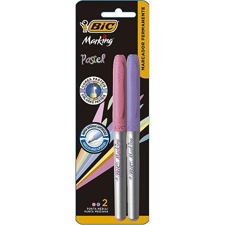 Pincel Marcador Permanente Marking 1.1Mm Rosa/lilas Bic