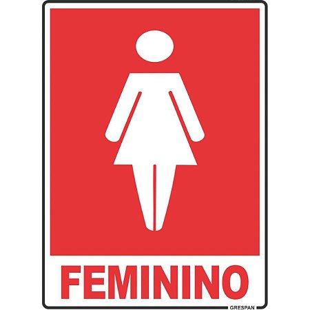 Placa De Sinalizacao Feminino 15X20Cm. Grespan