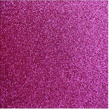 Placa Em Eva Com Gliter 48X40Cm. Pink 2Mm. Make+