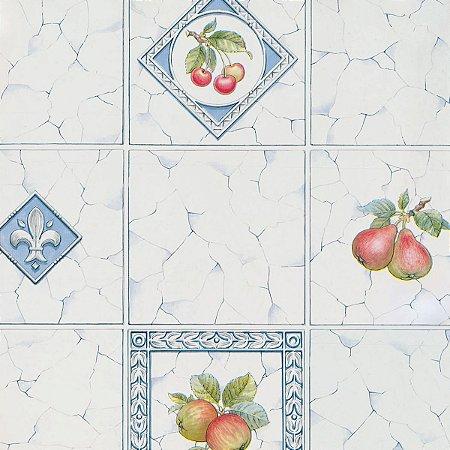Plastico Adesivo 45Cmx15M Azulejos Frutas Gekkofix
