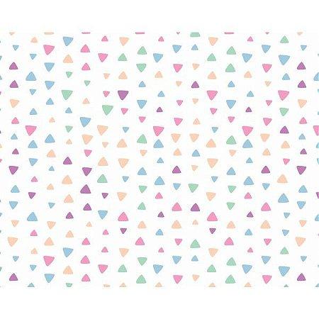 Plastico Adesivo 45Cmx15M Triangulos Coloridos Gekkofix