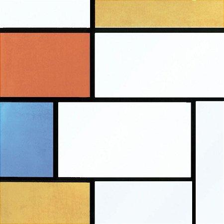 Plastico Adesivo 45Cmx15M Vitral Multi Color Gekkofix