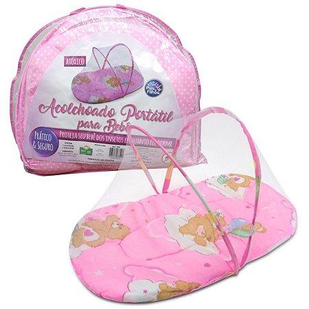 Produto Para Bebe Acolchoado Portatil Rosa Pais E Filhos
