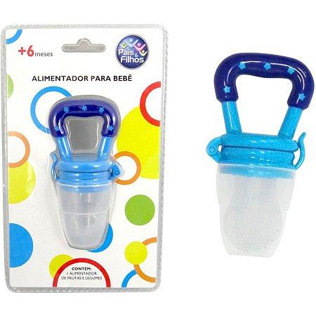 Produto Para Bebe Alimentador De Silicone Azul Pais E Filhos