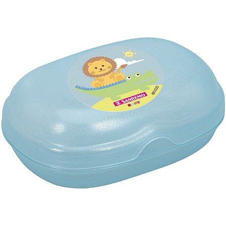 Produto Para Bebe Saboneteira Infantil Azul Sanremo