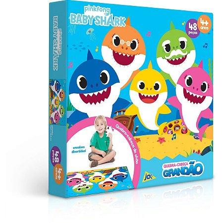 Quebra-Cabeca Cartonado Baby Shark 48Pcs Grandao Toyster