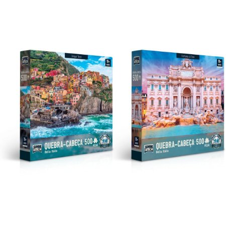 Quebra-Cabeca Cartonado Bella Italia 500 Pecas Toyster