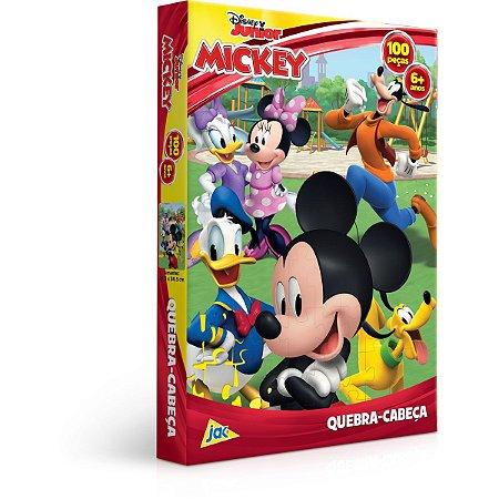 Quebra-Cabeca Cartonado Mickey E Turma 100Pcs Toyster