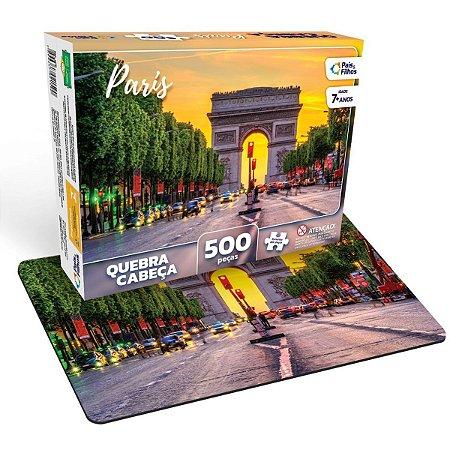 Quebra-Cabeca Cartonado Paris 500 Pecas Pais E Filhos