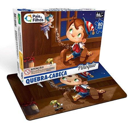 Quebra-Cabeca Cartonado Pinoquio 80 Pecas Pais E Filhos