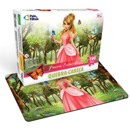 Quebra-Cabeca Cartonado Princesa Encantada 100Pcs Pais E Filhos