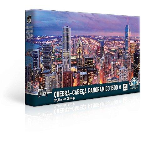 Quebra-Cabeca Cartonado Skyline De Chicago 1500 Pecas Toyster