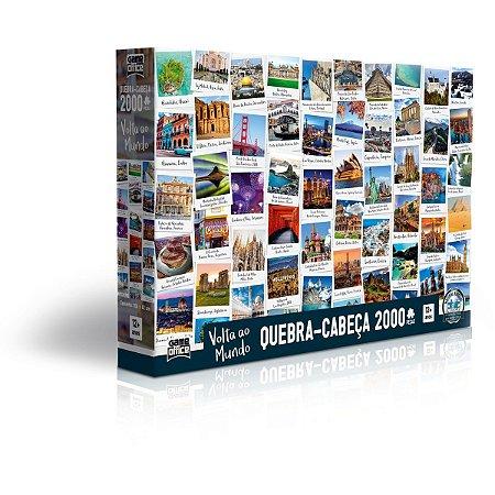 Quebra-Cabeca Cartonado Volta Ao Mundo 2000 Pecas Toyster