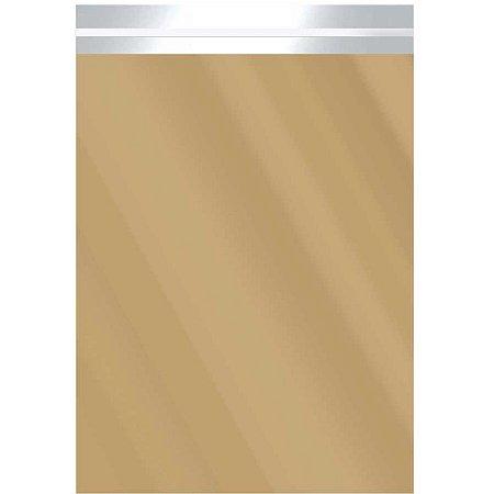 Saco Adesivado Metalizado Ouro 30X42+3Cm Aba Packpel