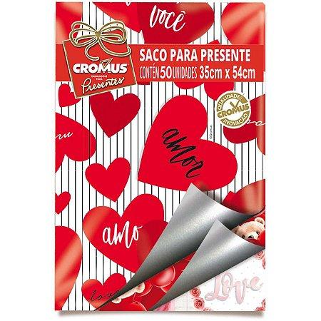 Saco Metalizado 30X45Cm Romantico Sortidos Cromus