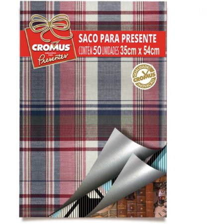 Saco Metalizado 35X55Cm Masculino Sortidos Cromus