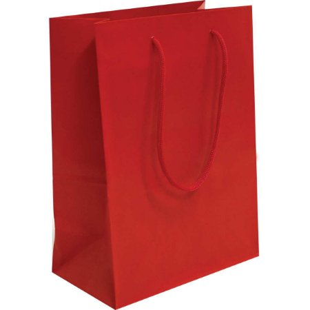 Sacola Para Presente Lisa Vermelha 15X21,5X8 Cm. Interfitas