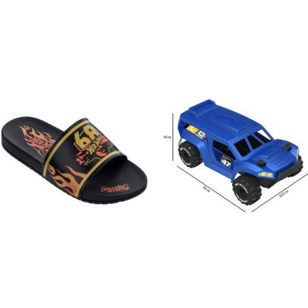 Sandalia Infantil Hot Wheels Speed N.28 Pt/am Grendene