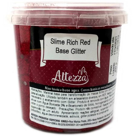 Slime Rich Red Base Glitter 400G Altezza