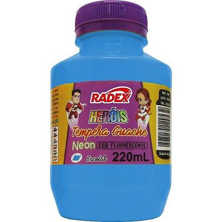 Tinta Guache 220Ml Azul Neon Radex
