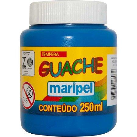 Tinta Guache 250Ml Azul Escuro Maripel