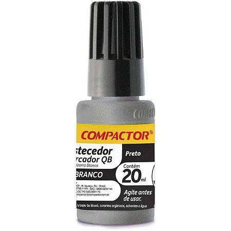 Tinta Marcador Quadro Branco Reabastecedor 0020Ml Preto Compactor