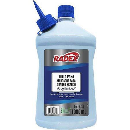 Tinta Marcador Quadro Branco Reabastecedor 1000Ml Azul Radex