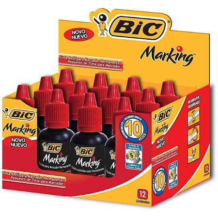 Tinta Marcador Quadro Branco Refil Marking 20Ml Vermelho Bic