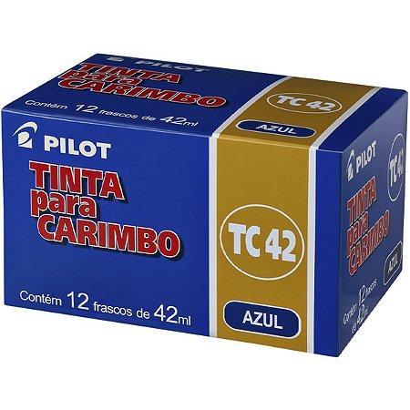 Tinta Para Carimbo 42Ml Azul Pilot