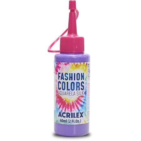 Tinta Tecido Aquarela Silk Fashion Colors Lilas 60Ml Acrilex