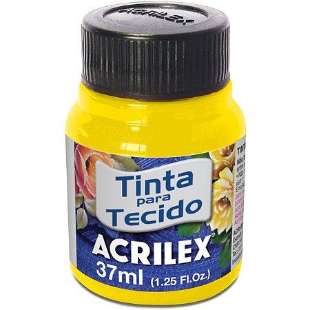 Tinta Tecido Fluorescente Amarelo Limao 37Ml. Acrilex