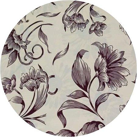 Toalha De Mesa Flor De Talo Bege 1,40 X 2,10M Goodie