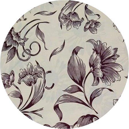 Toalha De Mesa Flor De Talo Bege 1,40 X 2,80M Goodie