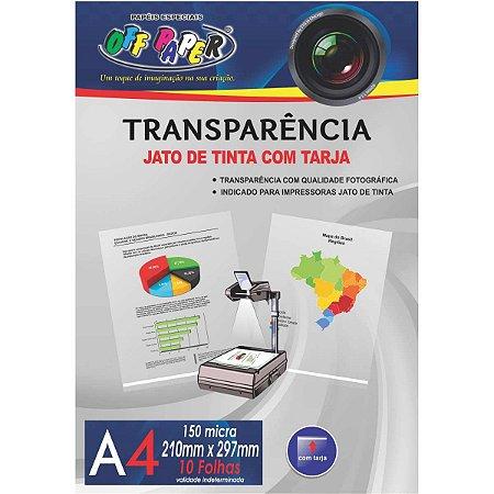 Transparencia Inkjet Inkjet A-4 C/tarja 150G. Off Paper