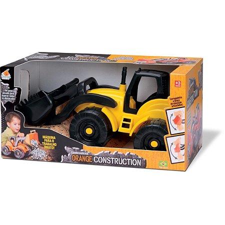 Trator Carregadeira Construction Sort Orange Toys