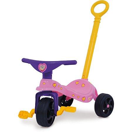 Triciclo Fofinha C/ Empurrador Xalingo