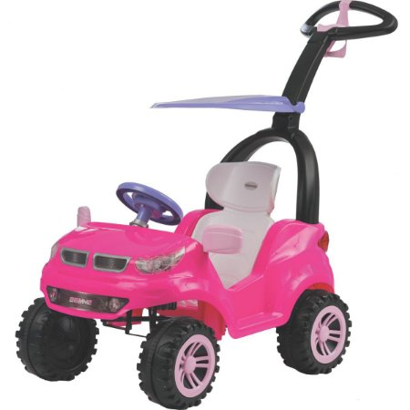 Veiculo Para Bebe Push Car Easy Ride Rosa Biemme